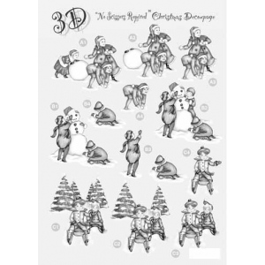 Craft UK Silver Christmas Decoupage - Children