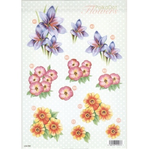 Craft UK 3D Precut Sheet - Flowers