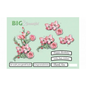 Craft UK B&B Pink Flowers/Carn