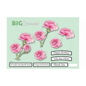 Craft UK B&B Pink Carnations
