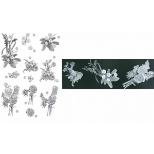 Craft UK  Floral -Flower Bunches - Silver