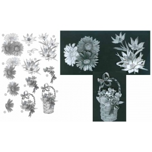 Craft UK Floral - Gerber Daisy/Basket - Silver