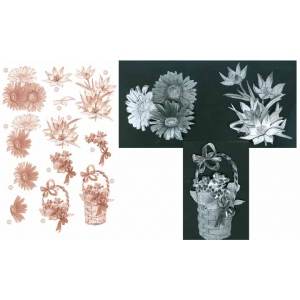 Copper Flowers -Daisy/Basket