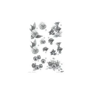 Craft UK Floral -Assorted Flowers - Silver