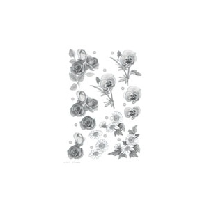 Craft UK Floral -Rose/Daisy/Pansy - Silver