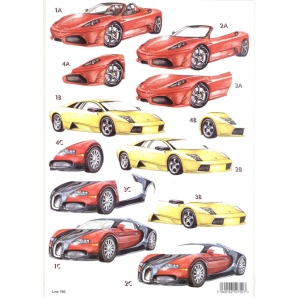 Craft UK 3-D Precut Sheet - Ferrari