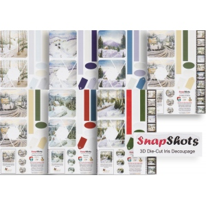Ecstasy Crafts Snap Shots Decoupage - 7 Sheet Bundle Pre-Cuts