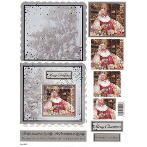 Craft UK Card Kit Santa Making Toys