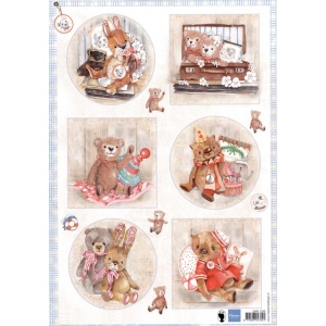 Marianne Design  Cutting Sheet: Teddy Bears 2