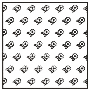 Background Embossing Folder - Flowers 2