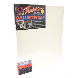 "Fredrix® Gallerywrap™ 36"" x 48"" Stretched Canvas: White/Ivory, Sheet, 36"" x 48"", 1 3/8"" x 1 3/8"", Stretched, (model T5082), price per each"