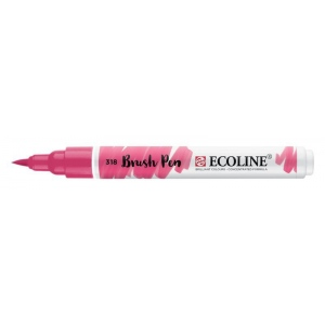 Talens® Ecoline® Watercolor Brush Pen Carmine: Red/Pink, Brush Nib, Brush Pen, Watercolor, (model 11503180), price per each
