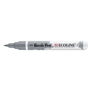 Talens® Ecoline® Watercolor Brush Pen Cold Grey: Black/Gray, Brush Nib, Brush Pen, Watercolor, (model 11507170), price per each