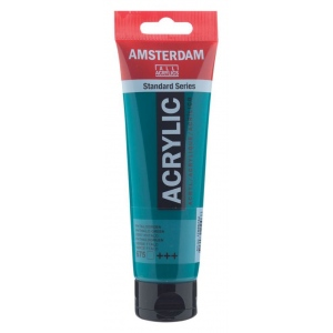 Royal Talens Amsterdam® All Acrylic Standard Series 120ml Phthalo Green: Green, Tube, 120 ml, Acrylic, (model 17096752), price per tube