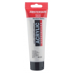 Royal Talens Amsterdam® All Acrylic Standard Series 120ml Pearl White: White/Ivory, Tube, 120 ml, Acrylic, (model 17098172), price per tube