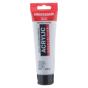 Royal Talens Amsterdam® All Acrylic Standard Series 120ml Pearl Blue: Blue, Tube, 120 ml, Acrylic, (model 17098202), price per tube
