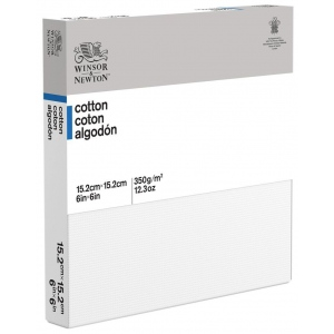 "Winsor & Newton™  Cotton Canvas 6"" x 6"": White/Ivory, Panel, Cotton, 6"" x 6"", Acrylic, Oil, (model 6201043), price per each"