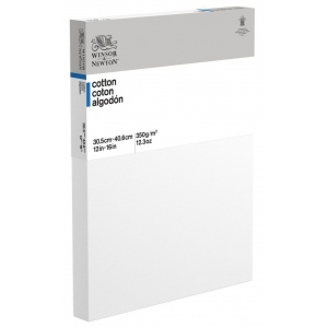 "Winsor & Newton™  Cotton Canvas 12"" x 16"" Deep Edge: White/Ivory, Panel, Cotton, 12"" x 16"", Acrylic, Oil, (model 6201087), price per each"
