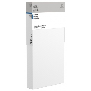 "Winsor & Newton™  Cotton Canvas 6"" x 12"" Deep Edge: White/Ivory, Panel, Cotton, 6"" x 12"", Acrylic, Oil, (model 6201118), price per each"