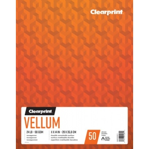 "Clearprint® Vellum 11"" x 14"": 50 Sheets, 11"" x 14"", (model C26321501311), price per each"