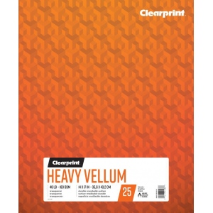 "Clearprint® Heavy Vellum 14"" x 17"": 25 Sheets, 14"" x 17"", (model C26321512011), price per each"