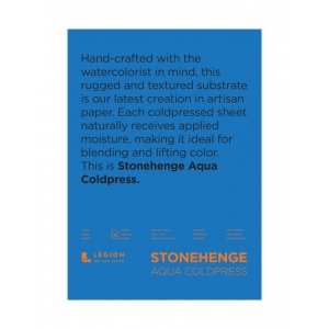 "Stonehenge® Aqua 22"" x 30"" Cold Press Watercolor Paper"