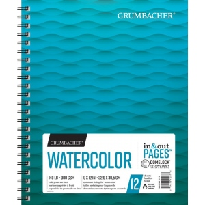 "Grumbacher® Cold Press Watercolor Paper Wirebound 9"" x 12"": 12 Sheets, 9"" x 12"", Watercolor, (model G26460601013), price per each"