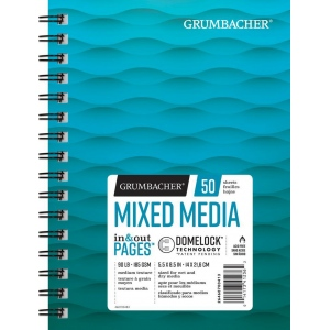 "Grumbacher® Mixed Media Paper 5.5"" x 8.5"": 50 Sheets, 5.5"" x 8.5"", Mix Media, (model G26460700413), price per each"