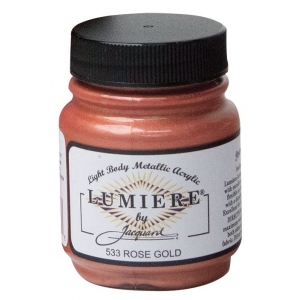 Lumiere® Rose Gold Lumiere Acrylic 2.25 Oz: Metallic, Jar, 2.25 oz, Acrylic, (model J533), price per each