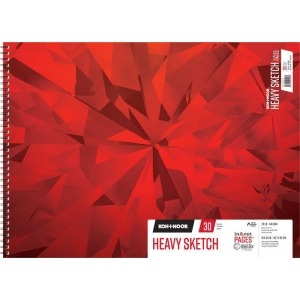"Koh-I-Noor® Heavy Sketch Paper 18"" x 24"": 75 Sheets, 18"" x 24"", 70 lb, (model K26170102512), price per each"