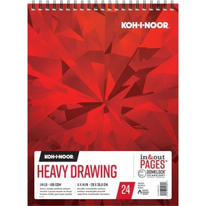"Koh-I-Noor® Heavy Drawing Paper 11"" x 14"": 24 Sheets, 11"" x 14"", 114 lb, (model K26170201312), price per each"