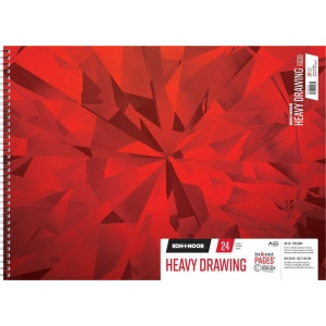 "Koh-I-Noor® Heavy Drawing Paper 18"" x 24"": 24 Sheets, 18"" x 24"", 114 lb, (model K26170202512), price per each"