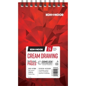"Koh-I-Noor® Cream Drawing Paper 5.5"" x 8.5"": 24 Sheets, 5.5"" x 8.5"", 90 lb, (model K26170210412), price per each"