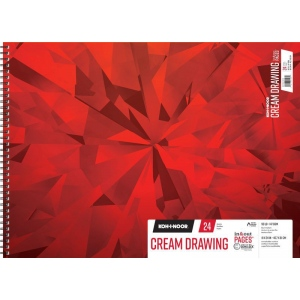 "Koh-I-Noor® Cream Drawing Paper 18"" x 24"": 24 Sheets, 18"" x 24"", 90 lb, (model K26170212512), price per each"