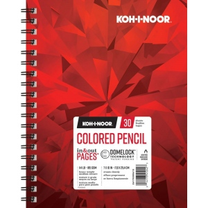 "Koh-I-Noor® Colored Pencil Paper 7"" x 10"": 30 Sheets, 7"" x 10"", 114 lb, (model K26170300613), price per each"