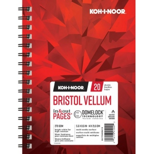 "Koh-I-Noor® Bristol Vellum 5.5"" x 8.5"": 20 Sheets, 5.5"" x 8.5"", 100 lb, (model K26170400413), price per each"