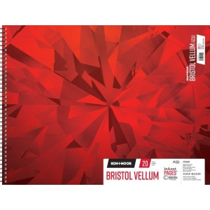 "Koh-I-Noor® Bristol Vellum 19"" x 24"": 20 Sheets, 19"" x 24"", 100 lb, (model K26170402613), price per each"