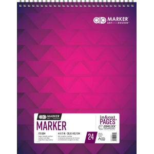 "Chartpak® AD™ Marker Pad 14"" x 17"": White/Ivory, 24 Sheets, 14"" x 17"", (model M26061302012), price per each"