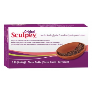 Sculpey® Original Oven Bake Terra Cotta Clay 1 lb.: Brown, 1 lb, Oven Bake, (model S01T), price per each