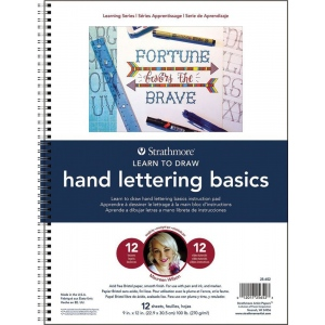 "Strathmore® 200 Series Learning Series Pad Learn to Draw Hand Lettering: Book, 32, 9"" x 12"", (model ST25-652), price per pad"