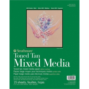 Strathmore® 400 Series Tan Mixed Media Pad
