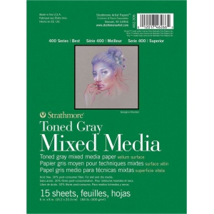 Strathmore® 400 Series Gray Mixed Media Pad