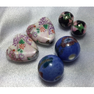 Oriental Embellishments Beads: Blue, White, Black