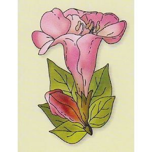 Leane Creatief Clear Stamp Flower