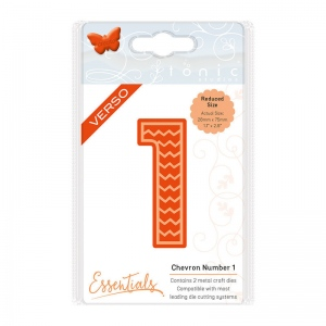 Tonic Studios Large Numbers - Chevron Number 1 Die - 1570E