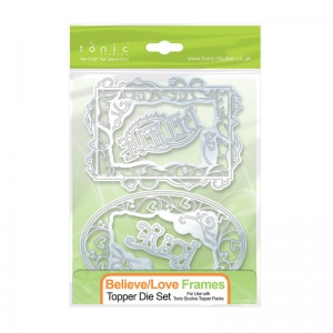 Tonic Studios Believe/Love Frames Topper Die Set - 172e