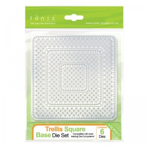 Tonic Studios Trellis Square Base Die set - 488e