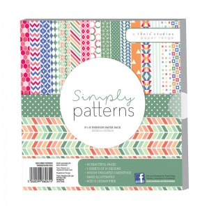 "Tonic Studios 8í""8 Premium Paper Pack - Simply Patterns - 1061E"