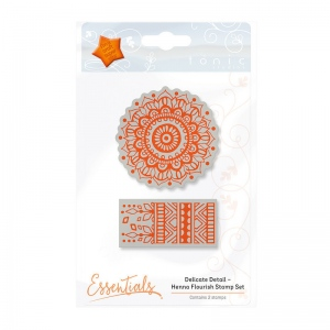 Tonic Studios Essentials - Delicate Detail - Henna Flourish Stamp - 1340E