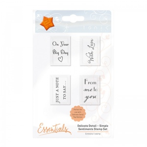 Tonic Studios Essentials - Delicate Detail - Simple Sentiment Stamp - 1345E